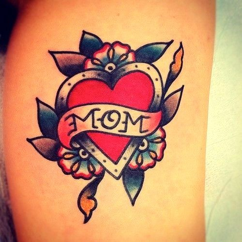 40 Traditional Mom Tattoo Designs For Men: Significado De Tatuagem De Coração (Símbolo)