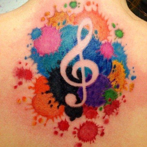 Significado de tatuagem de clave de sol blendup for Splash color tattoo