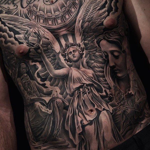 tattoo-anjo-peito-renascentista