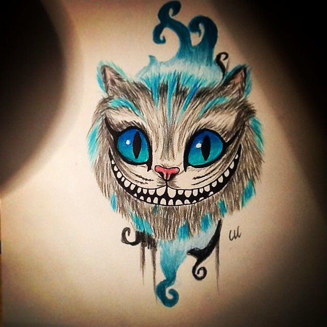 Tatuagem gato Chesire Cat