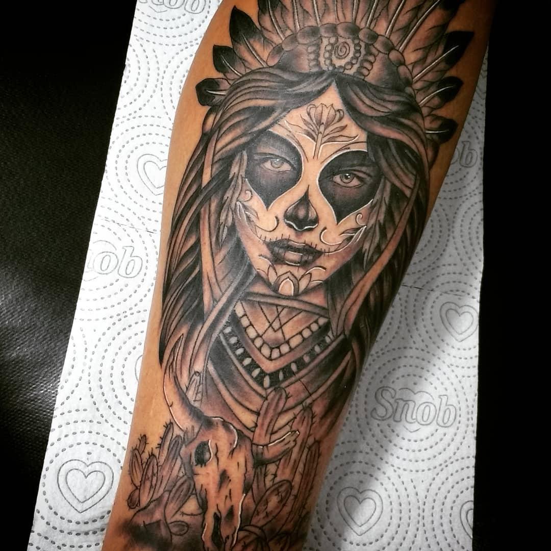Significado de tatuagem de catrina caveira do dia dos mortos jpg 1080x1080  Significado como es la f9d6537f296