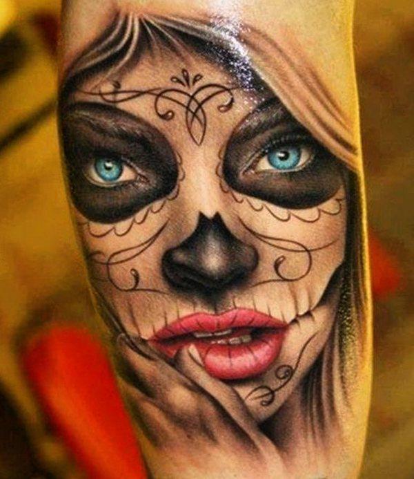 Signification Du Tatouage Catrina Jour Mexicain Du Crane Mort Blendup