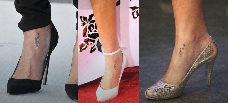 Rihanna Tattoos - Muzieknoten