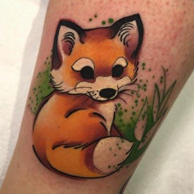 New School Fox Tattoo